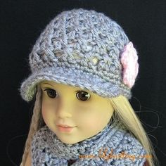 PATTERN – Crocheted Newsgirl Beanie for American Girl Doll « Lilyknitting – Patterns and Crochet