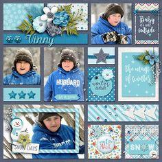 Love the colors! Vinny's Winter - Scrapbook.com