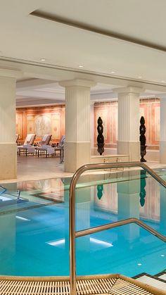 Love this pool at stylish Hotel Adlon Kempinski, in Berlin, Germany.