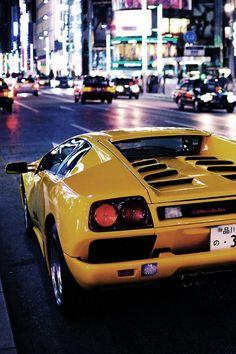 Lamborghini in the City Lights