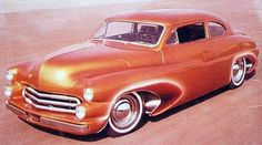 """This is the """"Solar Scene"""" built by Gene Winfield in 1963. """"Rod & Custom"""" magazine called it """"one of the most original custom renditions the '50 Mercury."""" Winfield's modern styling touches blended into this classic, reinvented the way customizers would build cars in the future."""