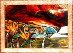 """Stained Glass Window: """"Red Dawn"""" by surfartstudios, via Flickr"""