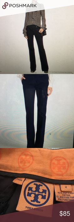 Tory Burch 100% cotton pants These are wonderful pair of Tory Burch dark brown 100% cotton pants. They are in excellent condition like new Tory Burch Pants