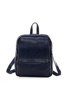 Cannci Women's Pebbled Backpack, Navy at MYHABIT