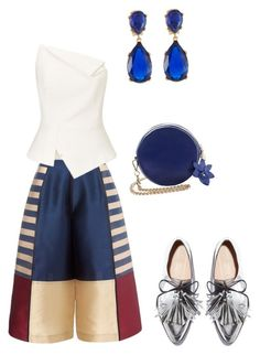 """Anisa #1"" by ana-isabel-goncalves ❤ liked on Polyvore featuring Roland Mouret, Loeffler Randall and Kenneth Jay Lane"