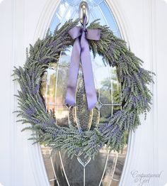 Tutorial for Simple Summer Lavender Wreath  -- bet it smells wonderful