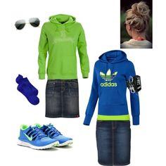 i love the outfit and shoes but separately. I never wear sneakers with a skirt!! EVER!~chloe