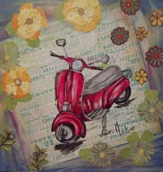 Scooter in Multimedia Multimedia, Arts And Crafts, Drawings, Pretty, Artist, Blog, Painting, Life, Artists