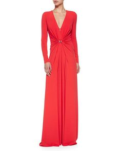 Long-Sleeve Gown W/