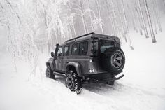 Snow problem ... the Defender can comfortably handle any terrain