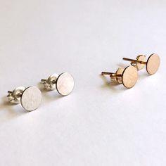 Hammered Circle Stud Earrings