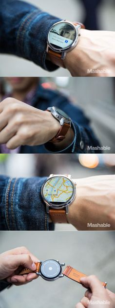 The new Moto 360 isn't perfect but it's one pretty smartwatch Wearable Technology, Technology Gadgets, Tech Gadgets, Best Kids Watches, Cool Watches, Watches For Men, Men's Accessories, Android Wear Smartwatch, Best Android