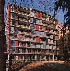 Giulio Minoletti, Condominio ai Giardini d'Arcadia in corso di Porta Romana, 1955-1959 Milano #Italy