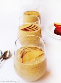 Mousse Dietetic de Nectarine (fără zahăr, fără frișcă, 100% sănătos)