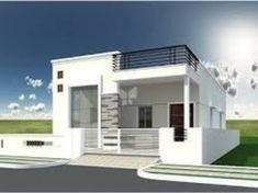 Flooring Front Elevation Designs Single Home.Home Front Elevation House Plan Designs Modern Box . South Indian House Front Elevation Designs And Plans Of 2 . Pin By Sreekanth Sasidharan On Inspiration: Architecture . Single Floor House Design, Simple House Design, House Front Design, Modern House Design, Front View Of House, Front Elevation Designs, House Elevation, Home Design Images, Modern Bungalow House