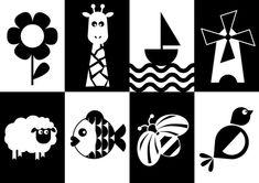Pictograph Montessori carte en noir et blanc - Bebees - # Baby Learning Activities, Infant Activities, Baby Images, Baby Pictures, Baby Flash Cards, Baby Lernen, High Contrast Images, Newborn Schedule, Montessori Baby Toys