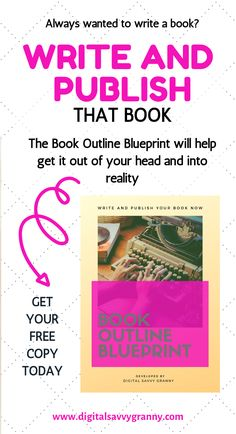 Always wanted to write a book but didn't know where to start? Wondering how to get those great ideas out of your head and into reality? Here is the solution. A step-by-step, proven method that gets the job done. Grab your free copy of the Book Outline Blueprint and get started today. #writingtips #bookoutline #Amazon #publishedauthor #indieauthors Writer Tips, Book Writing Tips, Book Writer, Authors, Writers, Planner Writing, Book Outline, Book Prompts, Quotes For Book Lovers
