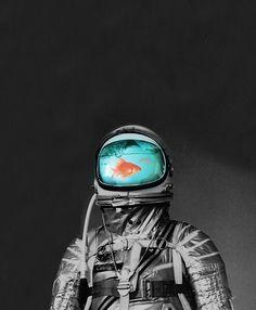Poster | UNDERWATER ASTRONAUT von Budi Kwan