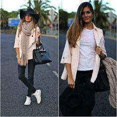 Zara Parka, Little Id T Shirt, Converse Sneakers