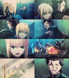 Fate/Zero: Saber (Arturia) + Lancer (Diarmuid)