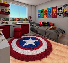 marvel bedroom ideas 22 Spectacular Superhero Bedroom Ideas for Kids Chambre Nolan, Avengers Room, Avengers Nursery, Boys Bedroom Decor, Marvel Boys Bedroom, Bedroom Red, Boy Bedroom Designs, Superhero Room Decor, Kids Bedroom Boys