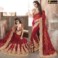 Wedding Wear Indian Saree Bollywood Designer Free SHIP Bridal Sari Womens Dress   eBay