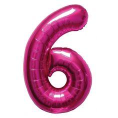 Cijfer 6 ballon roze. Een rozekleurige folie ballon in de vorm van de cijfer 6 om zelf op te blazen. De ballon is opgeblazen ongeveer 86 cm groot. U kunt de ballon heel gemakkelijk met een ballonpomp opblazen. U kunt de ballon ook zelf vullen met helium welke bij ons in tankjes verkrijgbaar zijn. De ballon wordt dus zonder helium geleverd.
