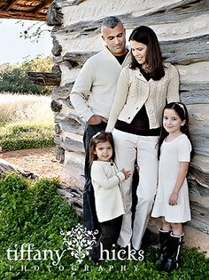 family portrait- love the clothes... can convince hubby to wear a sweater- probably not...