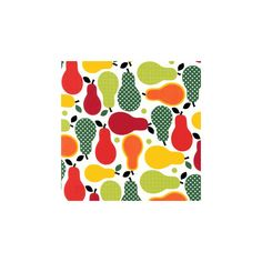 Pear fabric, pear print fabric, pears fabric, fruit print fabric, fruit novelty fabric found on Polyvore featuring polyvore and backgrounds