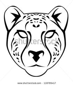 cheetah face cake stencil