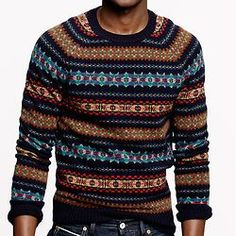 J. Crew has Fair Isle sweaters!! Probably they cost megabuxx. But anyway, British Country Winter ahoy!: