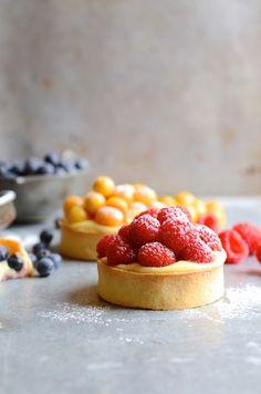 Crème pâtissière summer berry tarts | French patisserie | Baking |