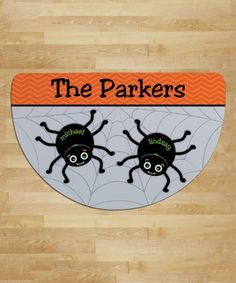 Another great find on #zulily! Spider Web Personalized Two-Name Round Indoor/Outdoor Doormat #zulilyfinds