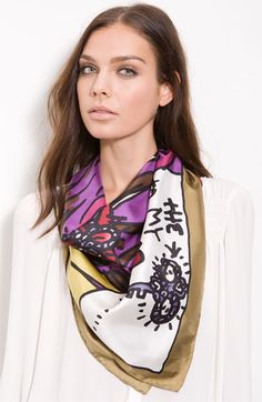 Betsey Johnson 'The Key to My Heart' Silk Scarf