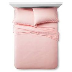Solid Sheet Set - Full - 4 pc - Pink - Pillowfort™ : Target