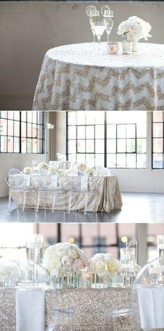 Sparkle isn't just for New Years or the holidays. By adding it in SUBTLE ways, it can create a beautiful Fall wedding atmosphere! Here are some ways to do so…. Table linens- By just incorporating the...