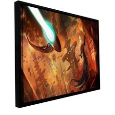 'Rust World 2014' by Luis Peres Framed Graphic Art on Wrapped Canvas