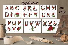 Red Roses – Vector Alphabets Set by Yuliya Art on @creativemarket