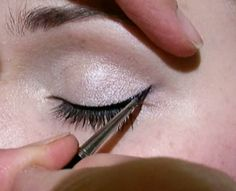Wanna know how to do designer liner? Think Audrey Hepburn and Angelina Jolie. Yes?