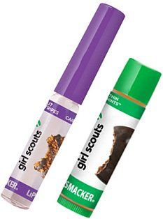 Girl Scout Cookie flavored lip balms?! Yes. and YES.