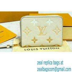 Louis Vuitton Monogram Empreinte Leather Zippy Coin Purse M80408 Cream/Saffron By The Pool Capsule Collection 2021