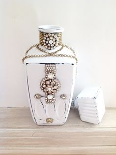 Hey, I found this really awesome Etsy listing at https://www.etsy.com/listing/249536746/altered-bottle-vintage-home-decor