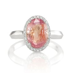 Padparadscha. The rarest and most valuable color in sapphire is called Padparadscha. The name, is said to derive from the Sinhalese term for lotus flower. Padparadscha sapphires are a beautiful pinkish orange color...Woaw!!