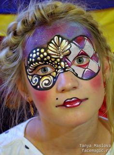 Carnival mask. Face paint by Tanya Maslova.