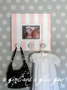 Such a good idea, and so easy! Add knobs to it to hang things