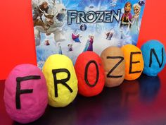 Play Doh Surprise Eggs FROZEN Disney