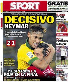 Los Titulares y Portadas de Noticias Destacadas Españolas del 27 de Junio de 2013 del Diario Deportivo Sport ¿Que le parecio esta Portada de este Diario Español?