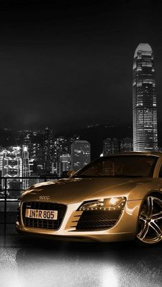 Audi, City, Night, Cars, Black