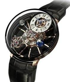 "Jacob Astronomia Tourbillon Men's Watch -  ""O Children of Adam Wear your beautiful apparel at every time and place of prayer: eat and drink: but wast not be excess, for Allah loveth not the wasters."" Surah Araf, 31"