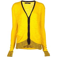 RAIF Cashmere cardi ($965) ❤ liked on Polyvore featuring tops, cardigans, cashmere tops, shawl collar cardigan, yellow cashmere cardigan, button front tops and button front cardigan
